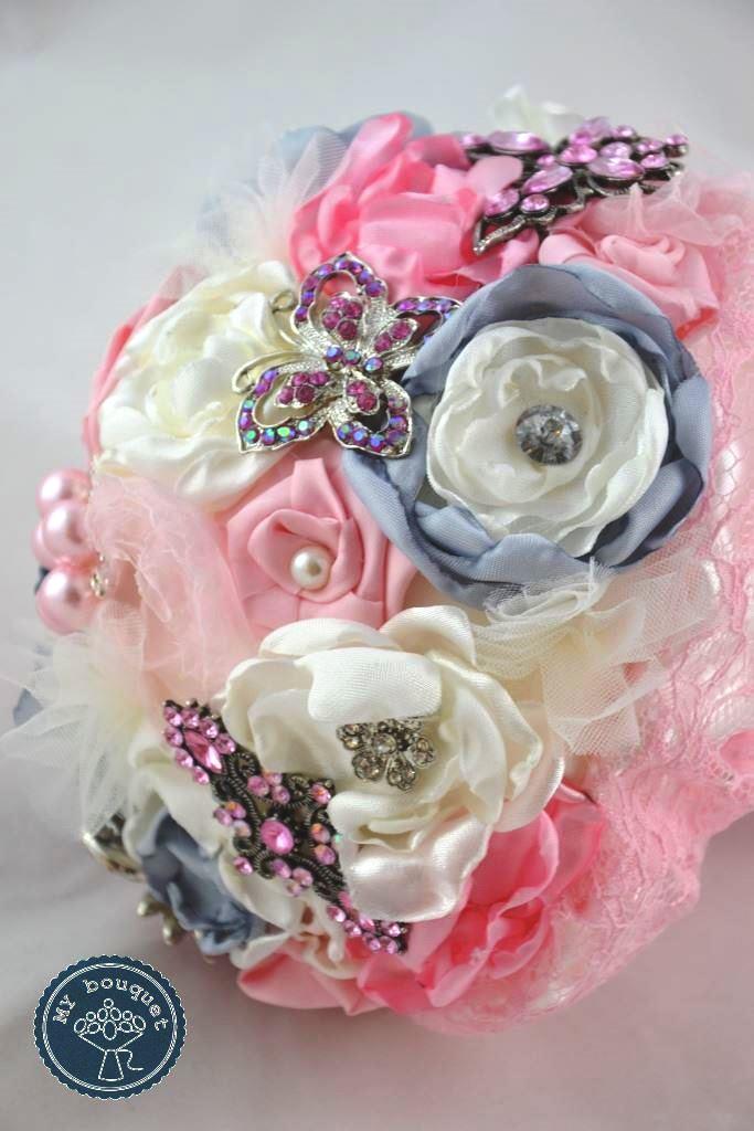 Brautstrauss Rosa Grau My Bouquet