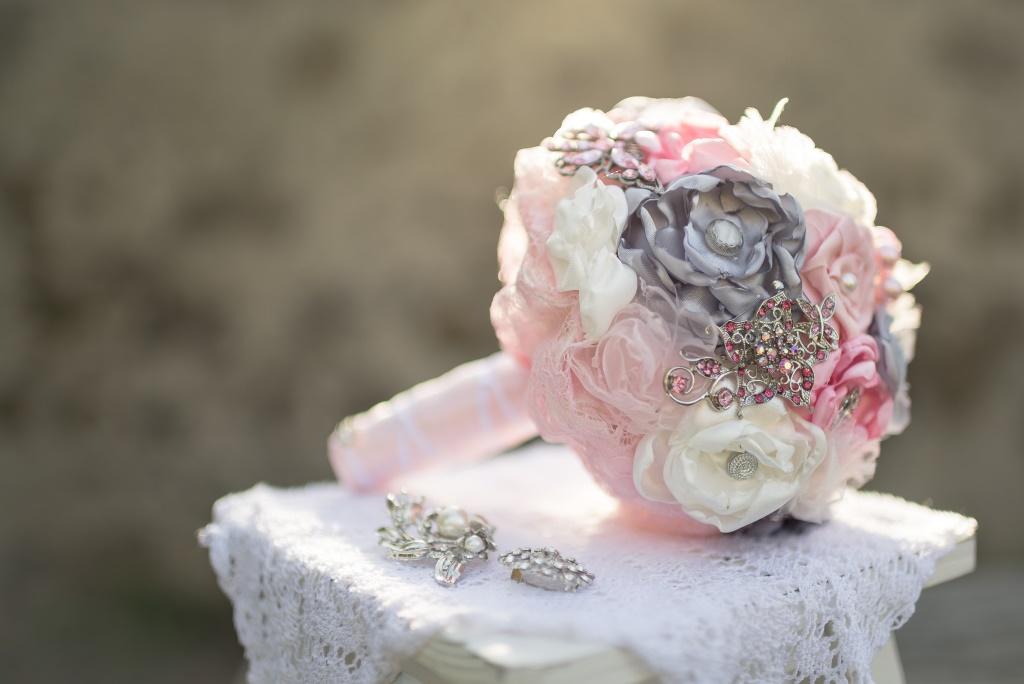 brautstrau rosa grau my bouquet. Black Bedroom Furniture Sets. Home Design Ideas
